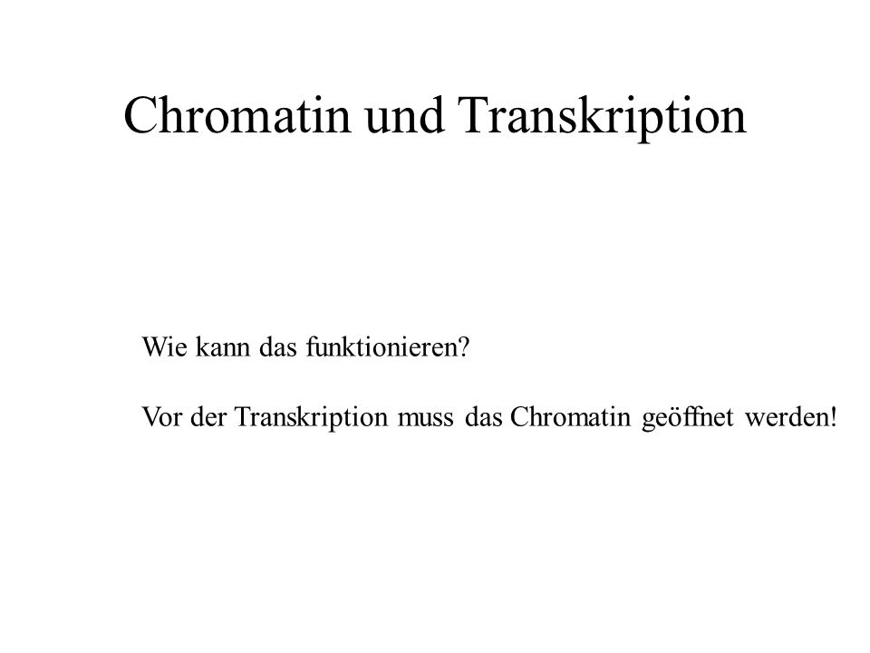 Chromatin und Transkription