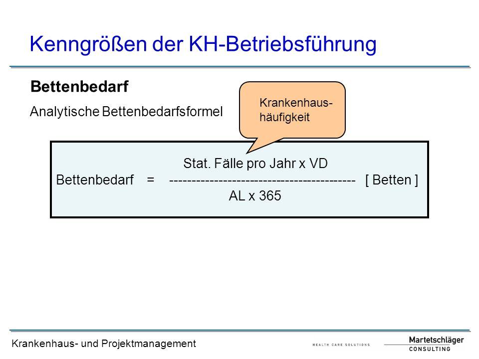 Kenngrößen der KH-Betriebsführung