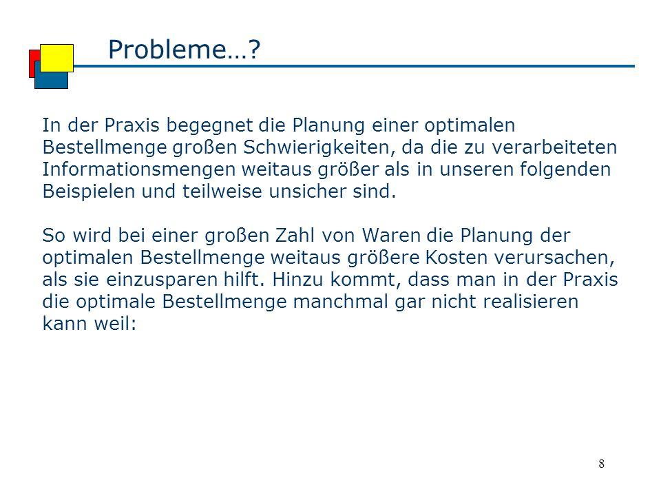 Probleme…