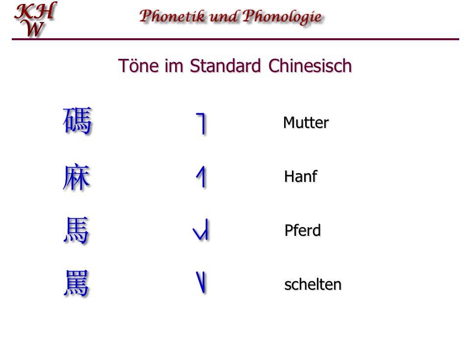 Töne im Standard Chinesisch