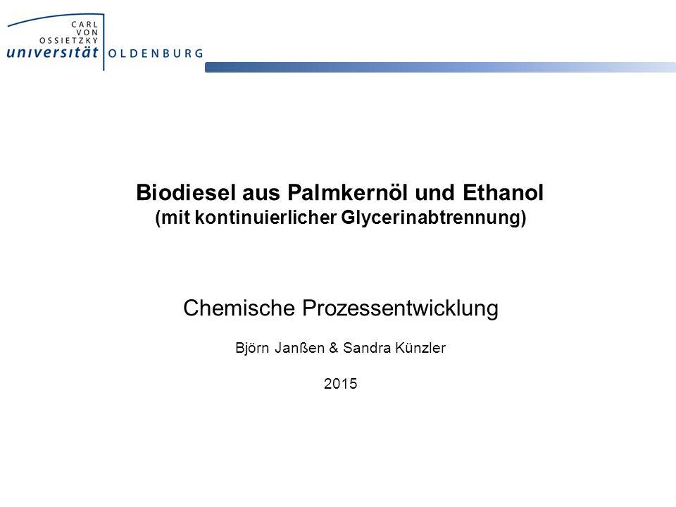 Biodiesel aus Palmkernöl und Ethanol