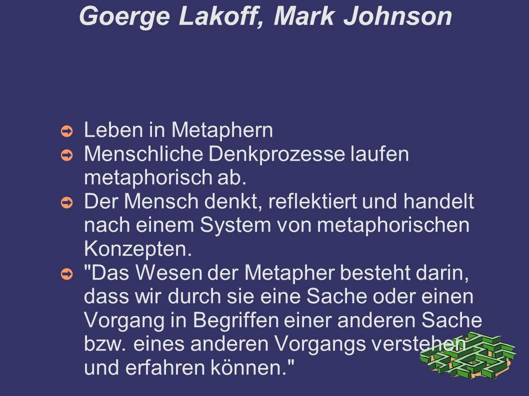 Goerge Lakoff, Mark Johnson