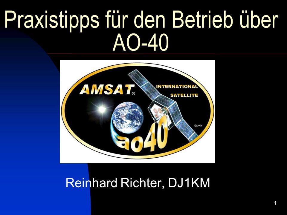 Praxistipps für den Betrieb über AO-40