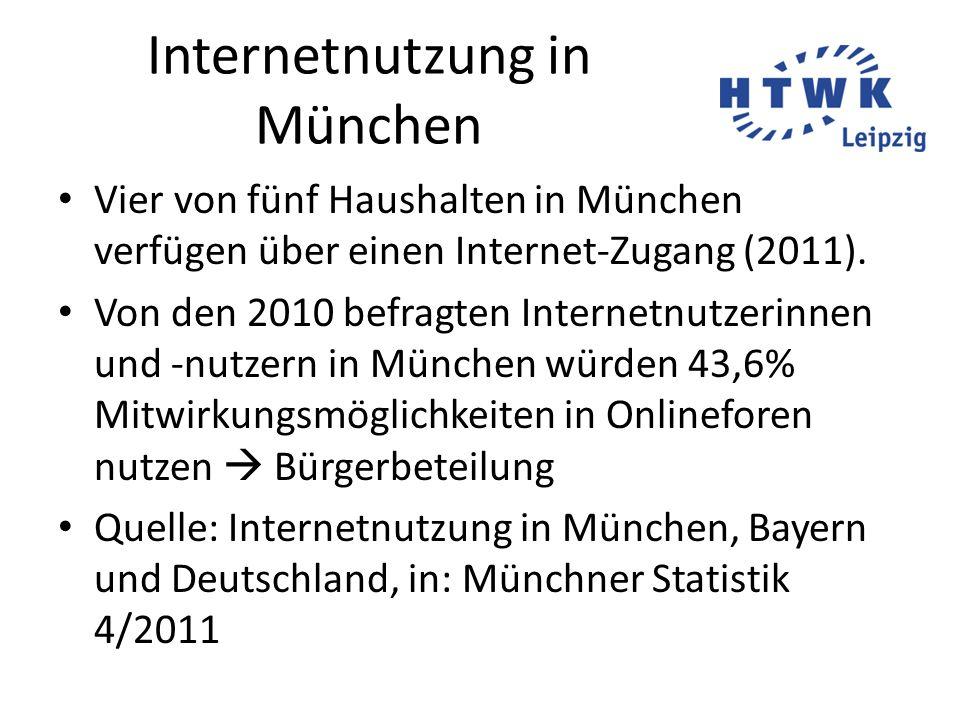 Internetnutzung in München