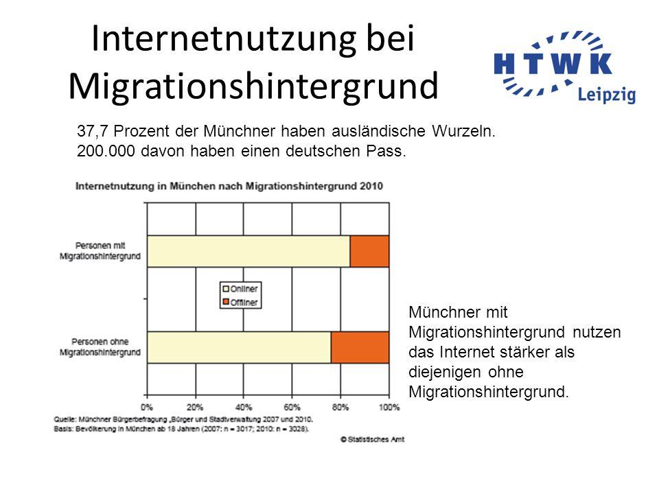 Internetnutzung bei Migrationshintergrund