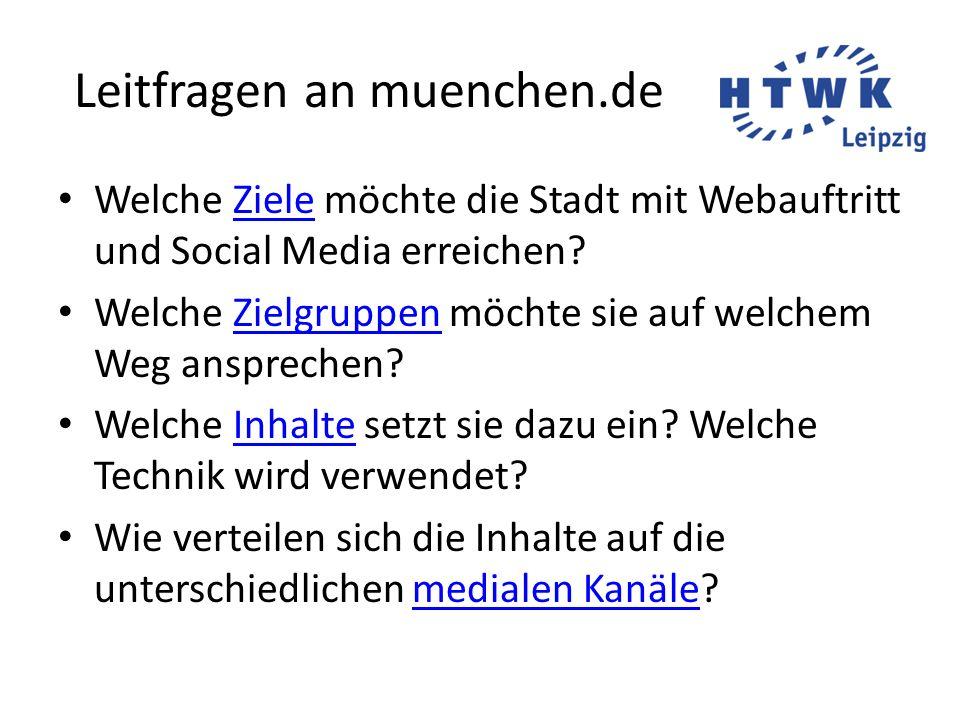 Leitfragen an muenchen.de