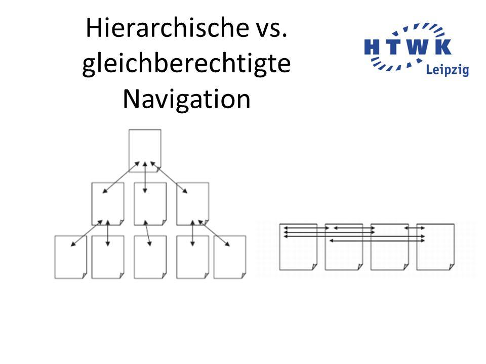 Hierarchische vs. gleichberechtigte Navigation