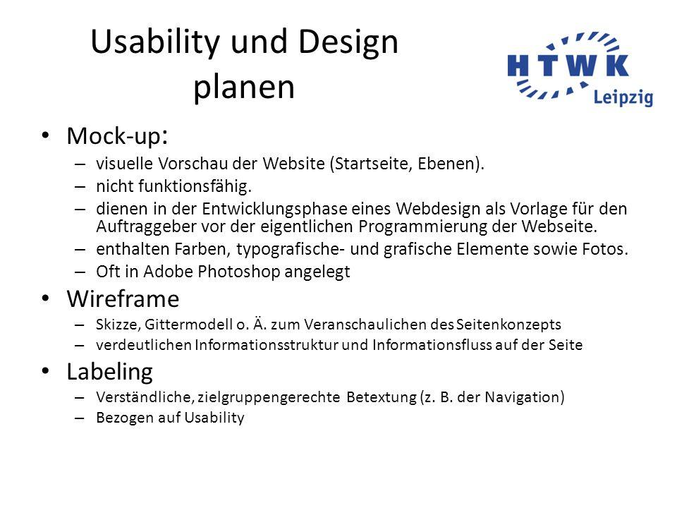 Usability und Design planen