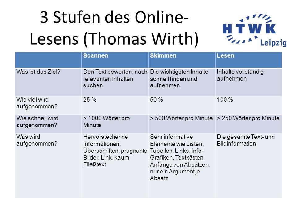 3 Stufen des Online-Lesens (Thomas Wirth)