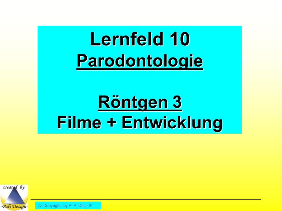 Lernfeld 10 Parodontologie Röntgen 3 Filme + Entwicklung