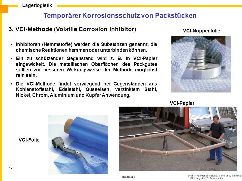 Temporärer Korrosionsschutz von Packstücken