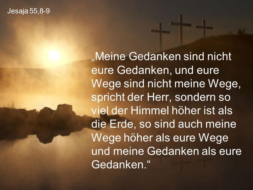 Jesaja 55,8-9