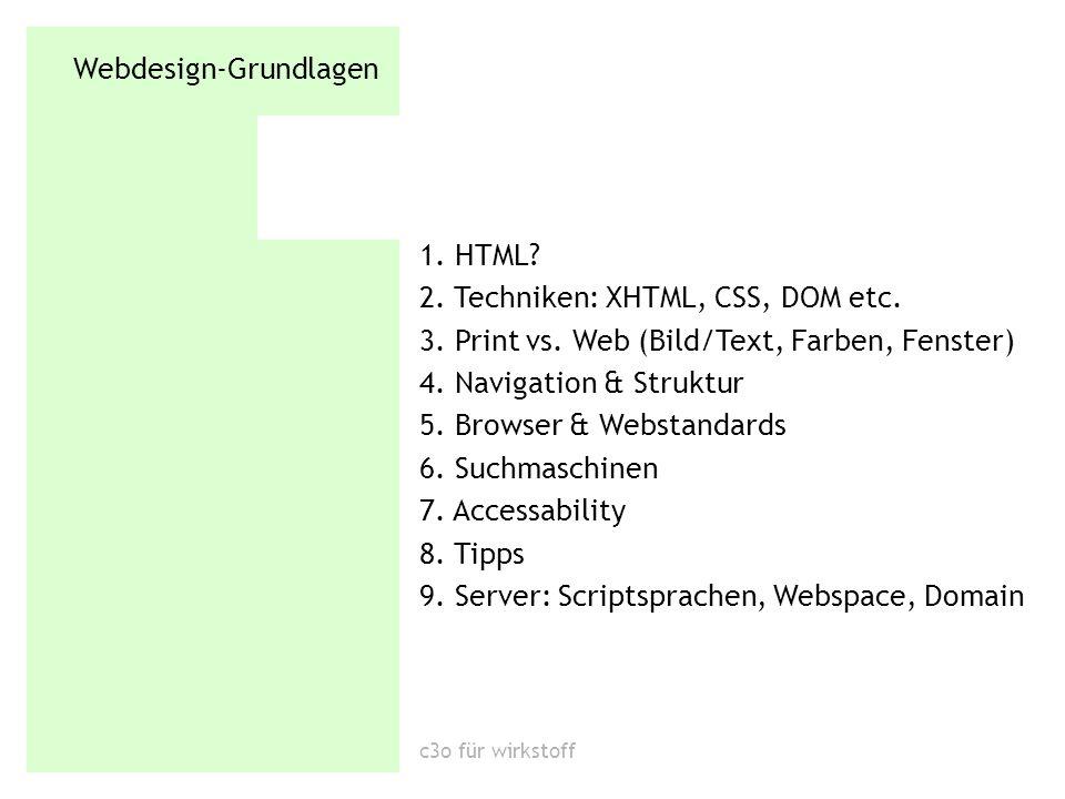 Webdesign-Grundlagen