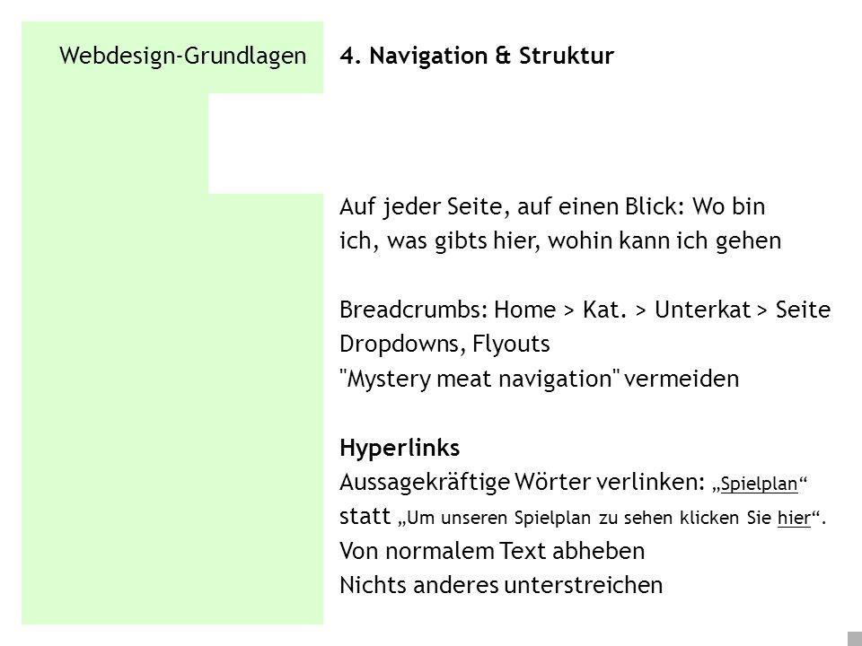Webdesign-Grundlagen 4. Navigation & Struktur