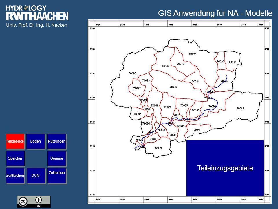 GIS Anwendung für NA - Modelle