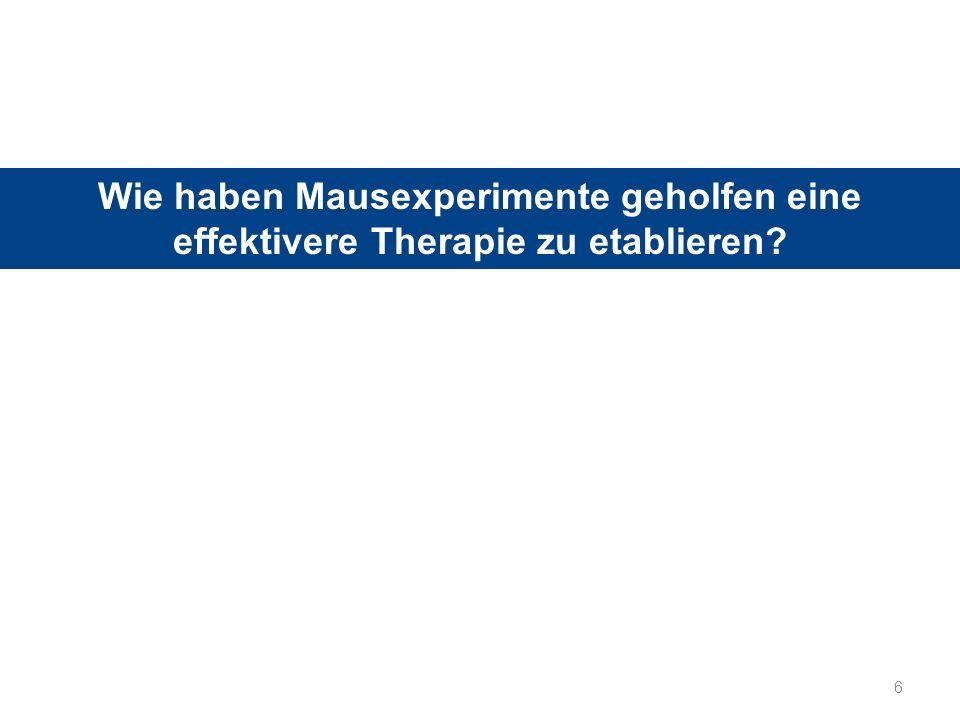 Wie haben Mausexperimente geholfen eine effektivere Therapie zu etablieren