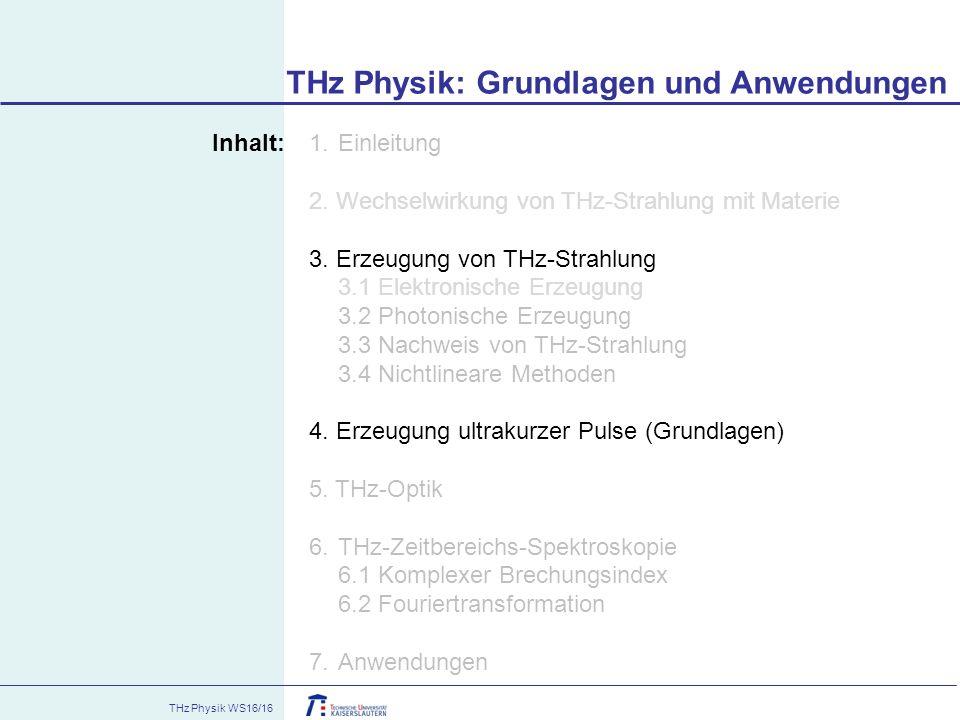 THz Physik: Grundlagen und Anwendungen