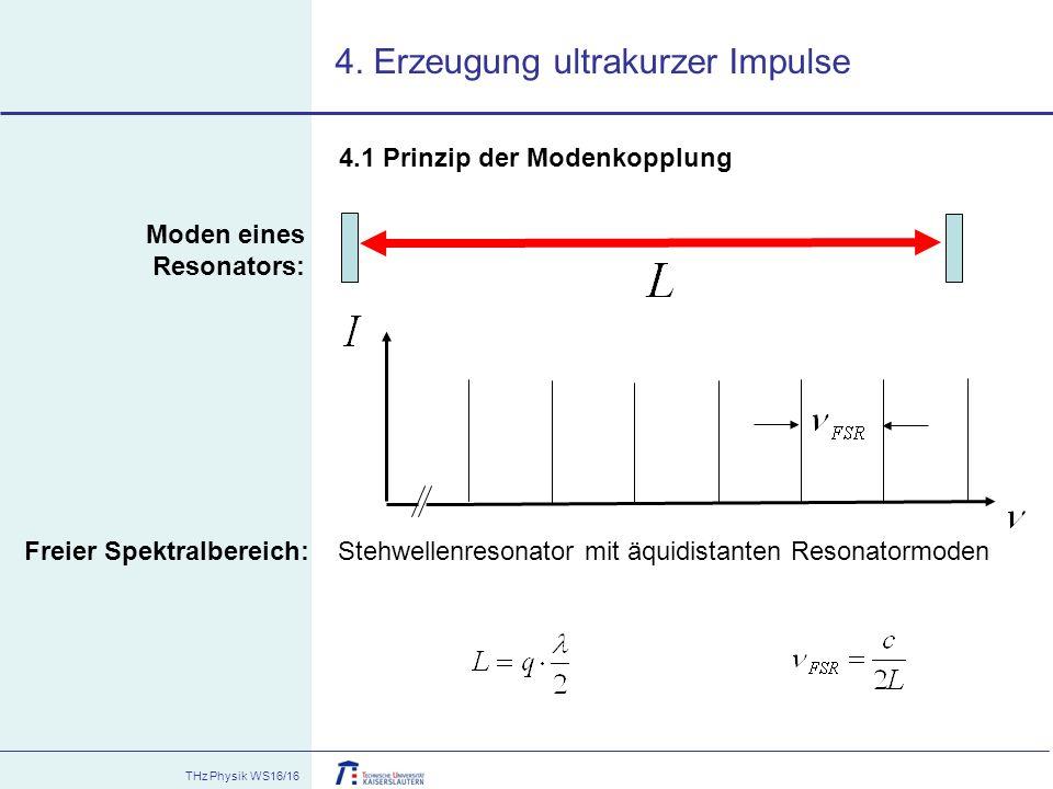 4. Erzeugung ultrakurzer Impulse