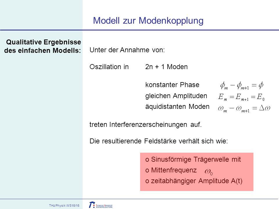 Modell zur Modenkopplung