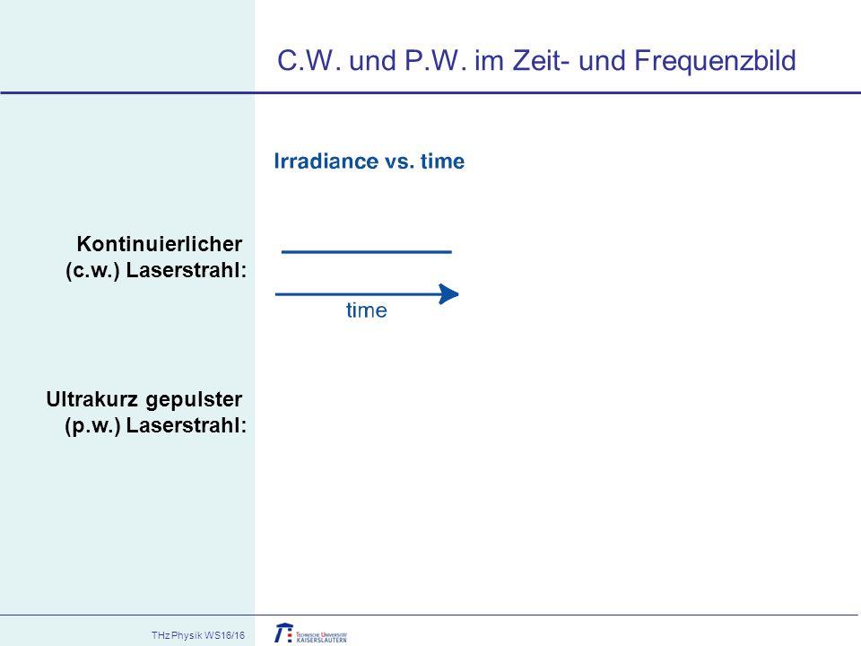 C.W. und P.W. im Zeit- und Frequenzbild