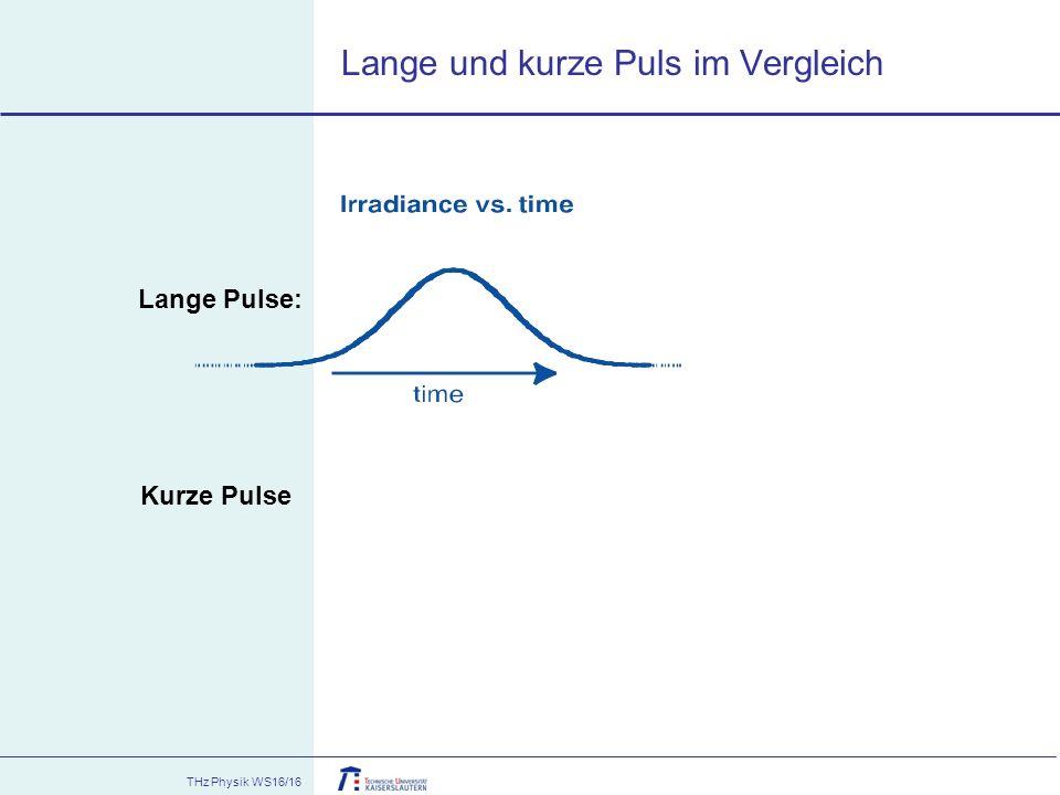 Lange und kurze Puls im Vergleich