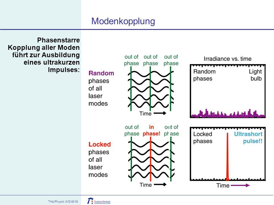 Modenkopplung Phasenstarre Kopplung aller Moden führt zur Ausbildung eines ultrakurzen Impulses: 07.01.08.