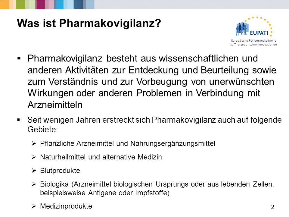 Was ist Pharmakovigilanz