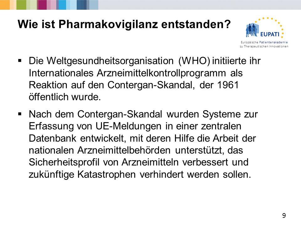 Wie ist Pharmakovigilanz entstanden