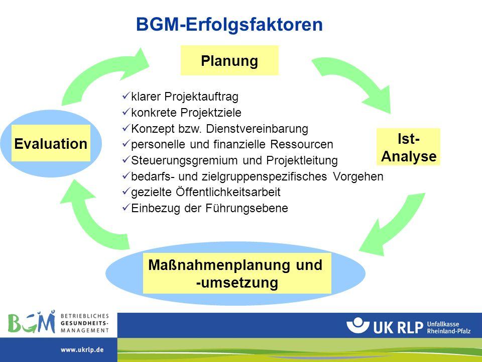 Maßnahmenplanung und -umsetzung