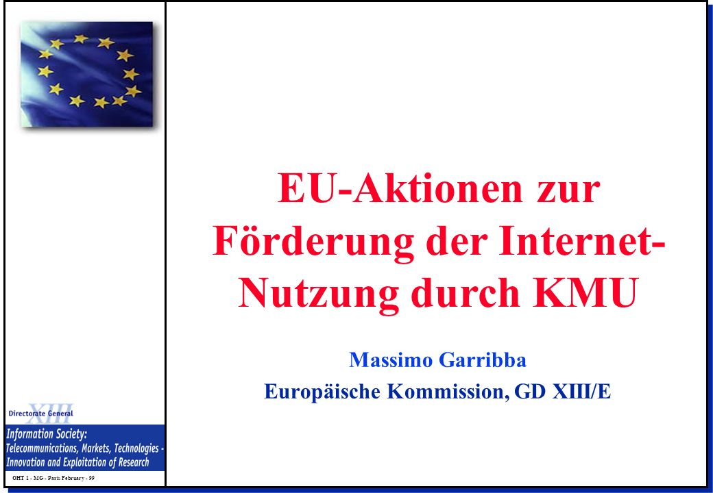 EU-Aktionen zur Förderung der Internet-Nutzung durch KMU