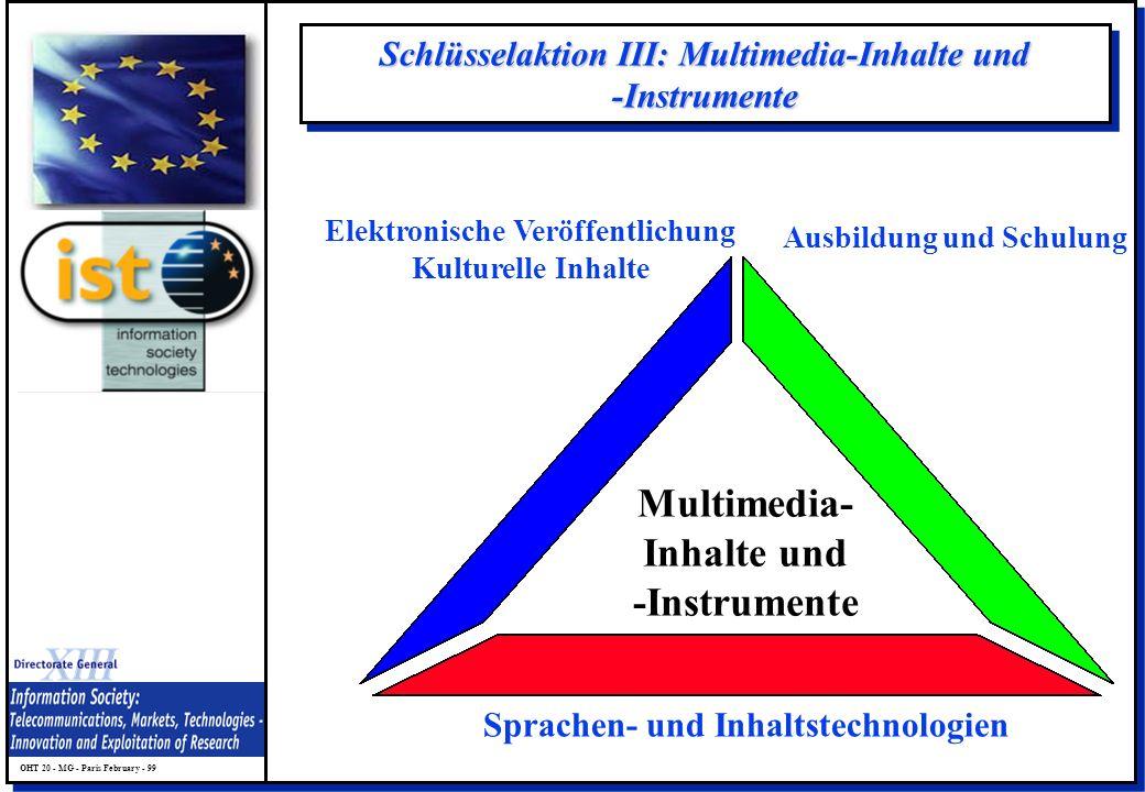 Schlüsselaktion III: Multimedia-Inhalte und -Instrumente