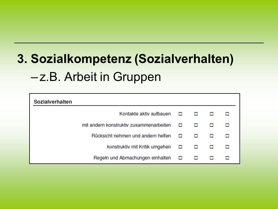 3. Sozialkompetenz (Sozialverhalten)