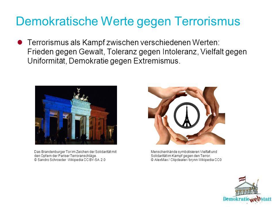 Demokratische Werte gegen Terrorismus