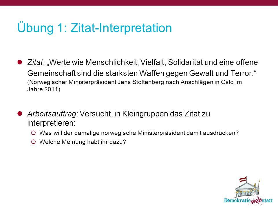Übung 1: Zitat-Interpretation