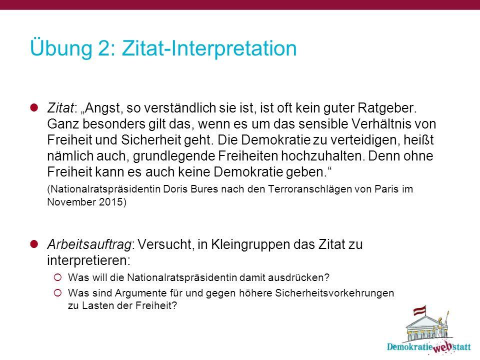 Übung 2: Zitat-Interpretation