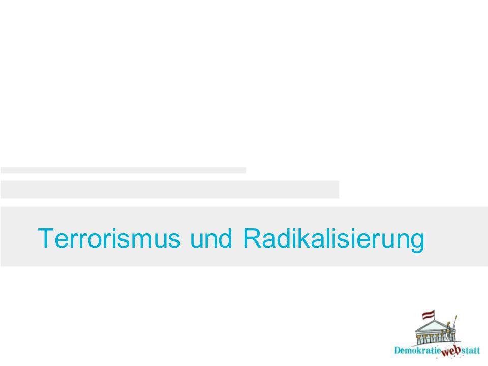 Terrorismus und Radikalisierung
