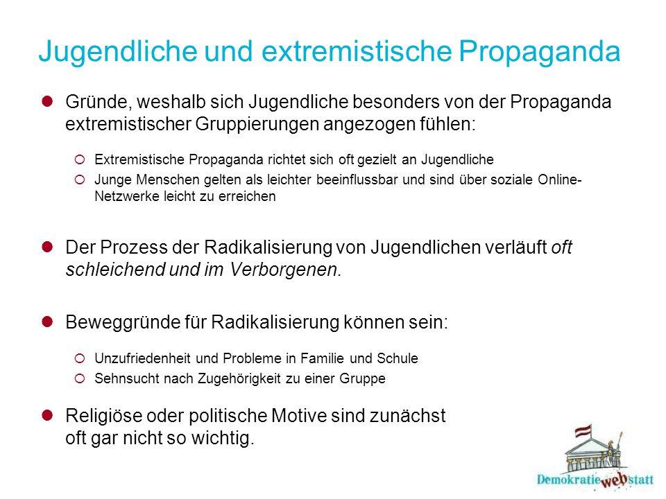 Jugendliche und extremistische Propaganda