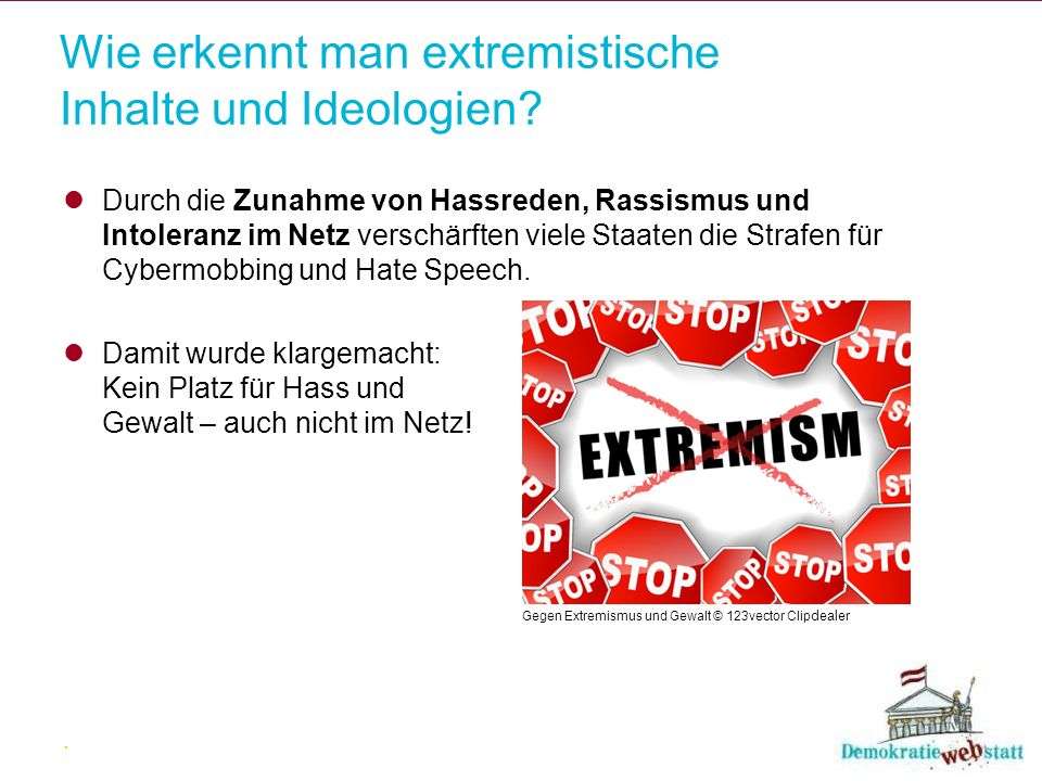 Wie erkennt man extremistische Inhalte und Ideologien