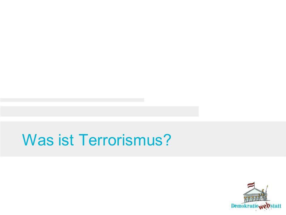Was ist Terrorismus
