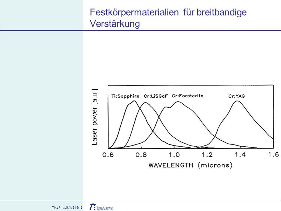 Festkörpermaterialien für breitbandige Verstärkung