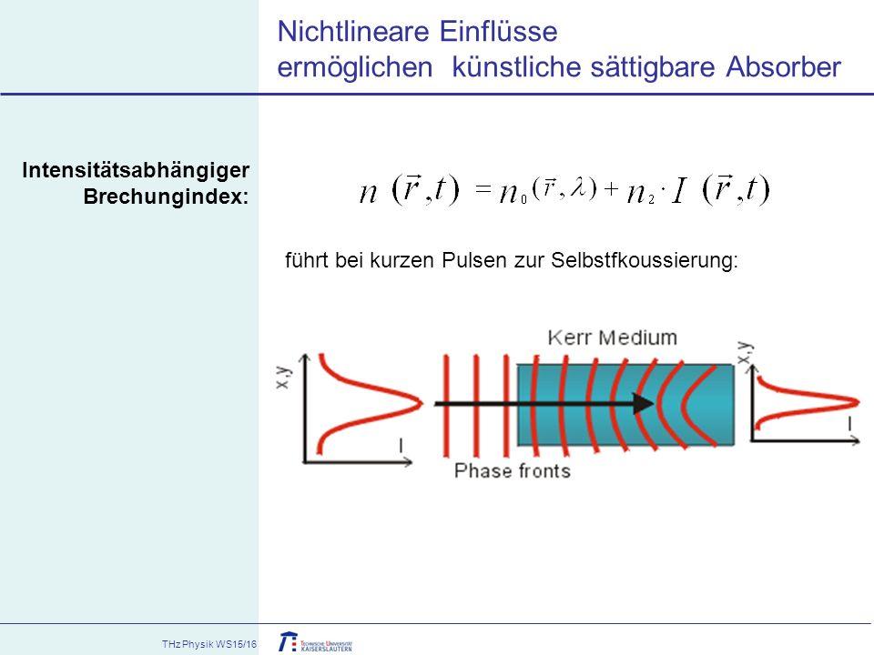Nichtlineare Einflüsse ermöglichen künstliche sättigbare Absorber