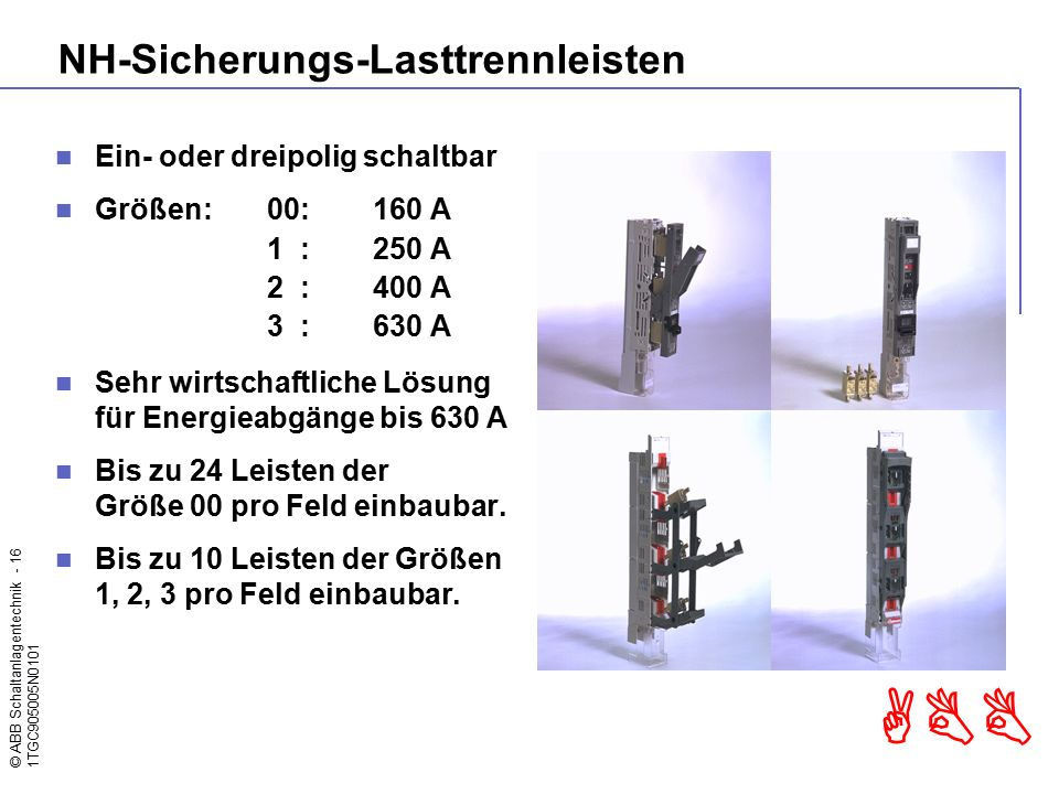 NH-Sicherungs-Lasttrennleisten