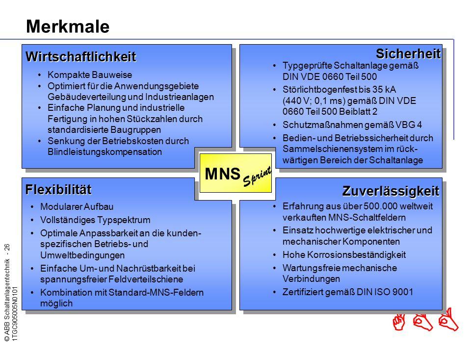 Merkmale MNS Sprint Sicherheit Wirtschaftlichkeit Flexibilität
