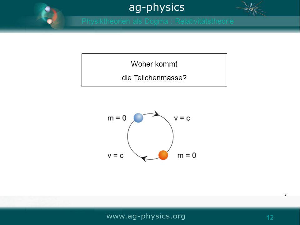 Woher kommt die Teilchenmasse