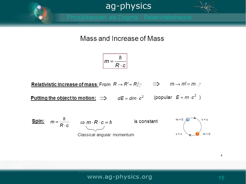 Mass and Increase of Mass