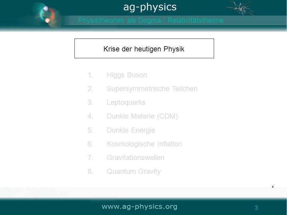 Krise der heutigen Physik