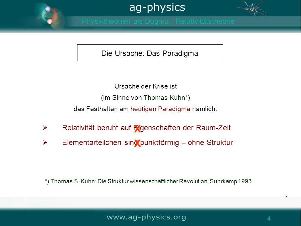 X X Physiktheorien als Dogma : Relativitätstheorie
