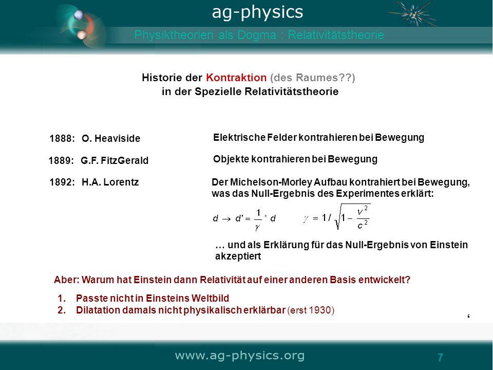 ' Physiktheorien als Dogma : Relativitätstheorie '