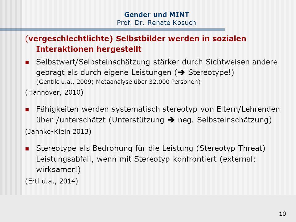 Gender und MINT Prof. Dr. Renate Kosuch