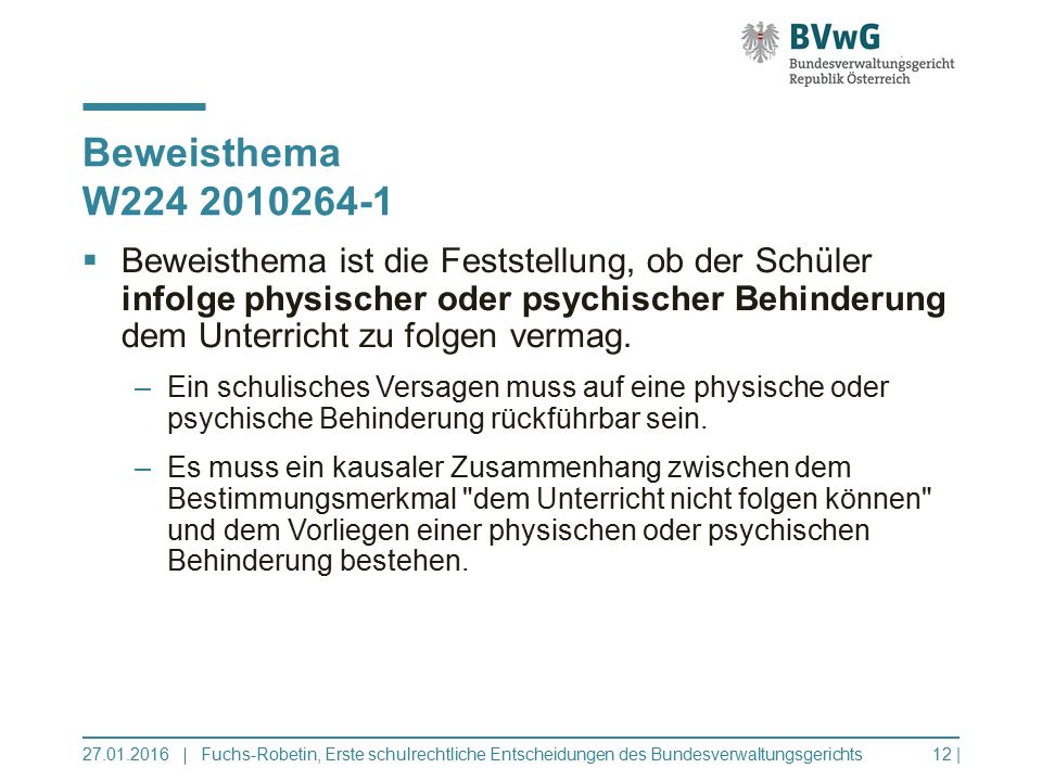Beweisthema W224 2010264-1